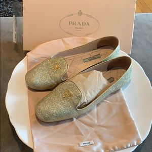 Prada smoky slippers flats